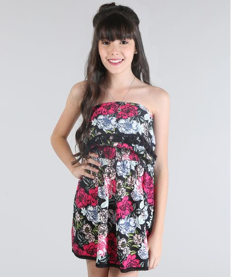 19e02bd53 Vestido-Tomara-Que-Caia-Estampado-Floral-Preto-8678209- ...