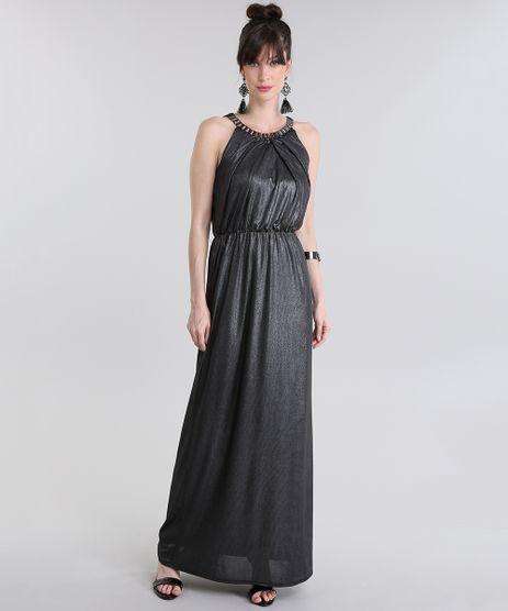 Vestido-Longo-com-Corrente-e-Lurex-Preto-8745431-Preto_1