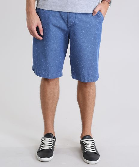 Bermuda-Jeans-Reta-Estampada-de-Ancoras-com-Cinto-Azul-Medio-8766981-Azul_Medio_1