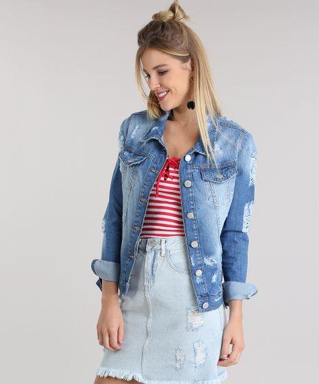 Jaqueta-Jeans-Destroyed-com-Bordado-Azul-Medio-8789438-Azul_Medio_1