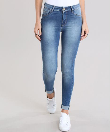 baa14f551 Calça Jeans Super Skinny Push Up Sawary Azul Médio - cea