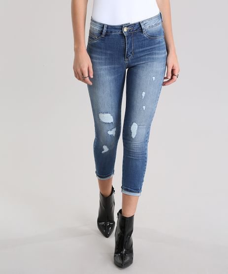 Calca-Jeans-Super-Skinny-Push-Up-destroyed-Sawary-Azul-Medio-8865783-Azul_Medio_1