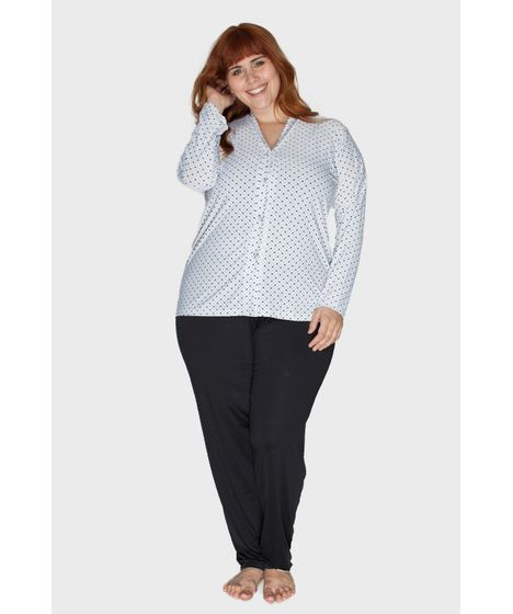 af5593d13 Pijama Aberto em Liganete Plus Size - cea