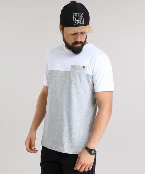Camiseta-com-Recorte-e-Bolso-Cinza-Mescla-8451632-Cinza_Mescla_1