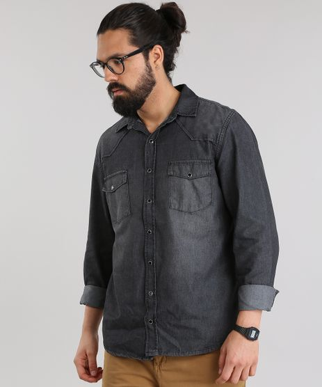 Camisa-Jeans-Preta-8836834-Preto_1