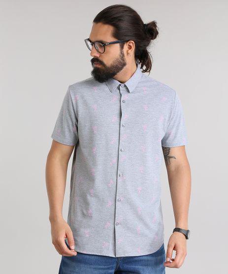Camisa-em-Piquet-Estampada-de-Coqueiros-Cinza-Mescla-8752758-Cinza_Mescla_1