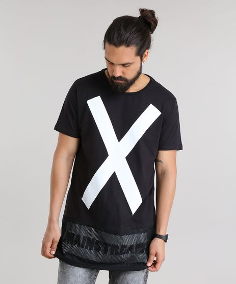 Camiseta-Longa--X--com-Tela-Preta-8763002-Preto_1