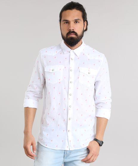 Camisa-Estampada-de-Flamingo-Branca-8702792-Branco_1