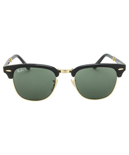 d45be0aa5 Óculos de Sol Ray-Ban Clubmaster Dobrável RB2176 Preto Br - C901 ...