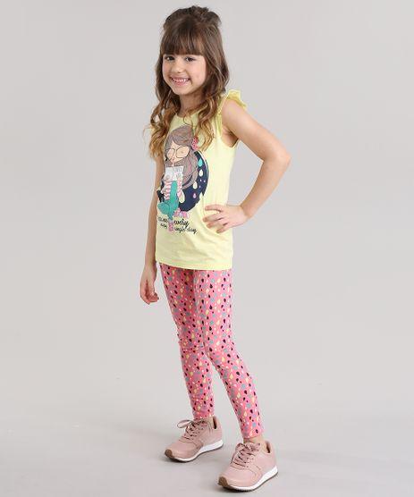 Conjunto-de-Regata-com-Babados-Amarelo-Claro---Calca-Legging-Estampada-Rosa-8767099-Rosa_1