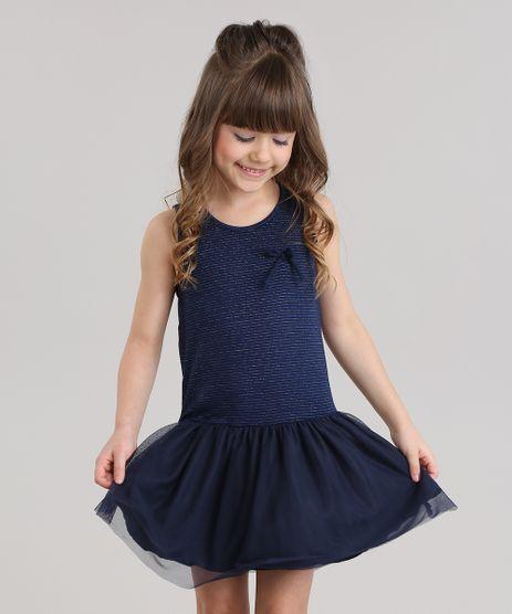 Vestido-Listrado-com-Lurex-e-Tule-Azul-Marinho-8829137-Azul_Marinho_1