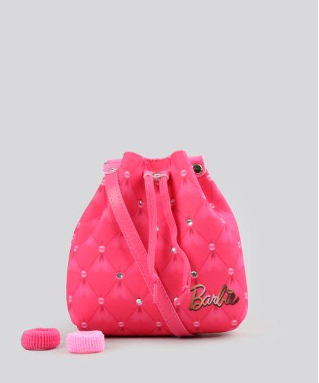 Bolsa-Estampada-Barbie-com-Strass---Elasticos-de-Cabelo-Pink-8891146-Pink_1