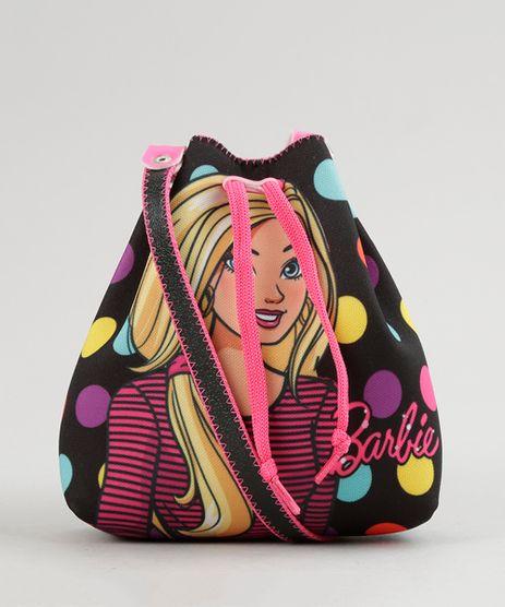 Bolsa-Barbie-Estampada-de-Poa---Elasticos-de-Cabelo-Preta-8891149-Preto_1