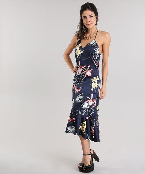 bbb6f6d5c Vestido-Midi-Estampado-Floral-Azul-Marinho-8731157-Azul_Marinho_1 ...