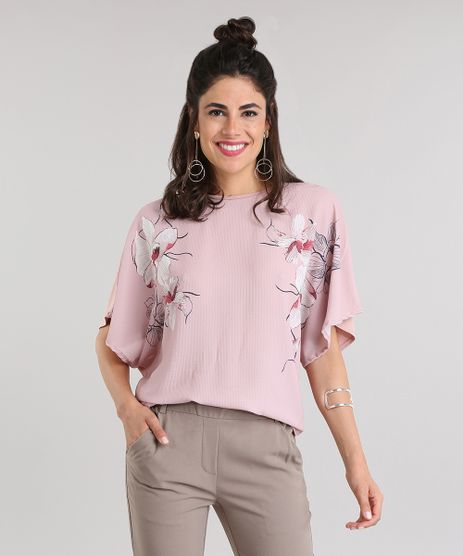 Blusa-Texturizada-com-Estampa-Floral-Rose-8816460-Rose_1
