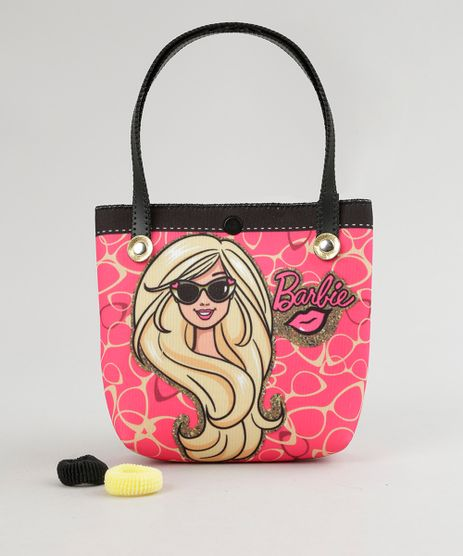 Bolsa-Estampada-Barbie----Elasticos-de-Cabelo-Rosa-Escuro-8886281-Rosa_Escuro_1