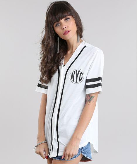 023caff372740 Camisa--Baseball--Off-White-8845886-Off White 1 ...