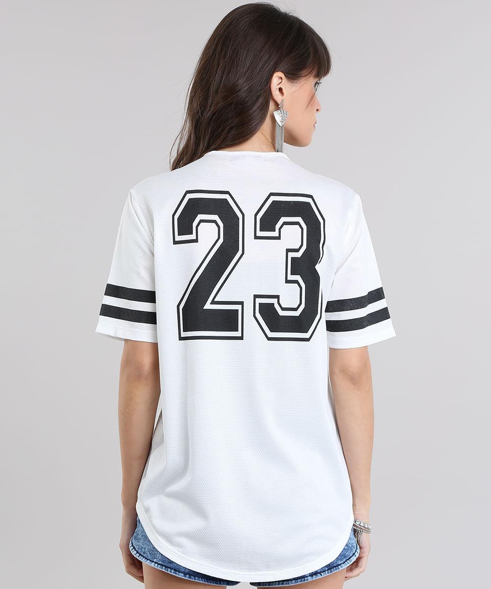 364a7a64ffa46 Camisa Feminina Esportiva com Vivo Contrastante Manga Curta Decote V ...