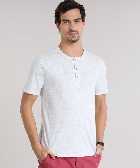 Camiseta-Basica-com-Botoes-Cinza-Mescla-Claro-8845797-Cinza_Mescla_Claro_1