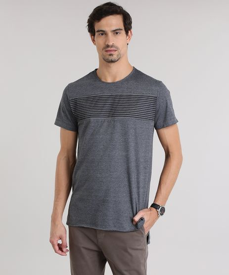 Camiseta-Longa-com-Recorte-em-Tela-Cinza-Mescla-Escuro-8772204-Cinza_Mescla_Escuro_1