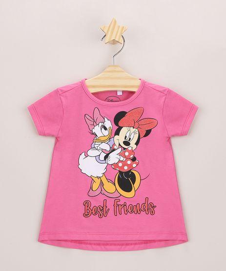 Blusa-Infantil-Ampla-Minnie-e-Margarida-com-Glitter-Manga-Curta-Pink-9969019-Pink_1