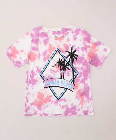 Blusa-Juvenil--Hawaii-Beach--Estampada-Tie-Dye-Manga-Curta-Multicor-9964160-Multicor_1