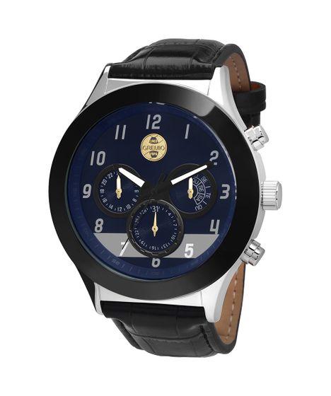 Relógio Masculino Grêmio Prata c28fcf10ed3c2