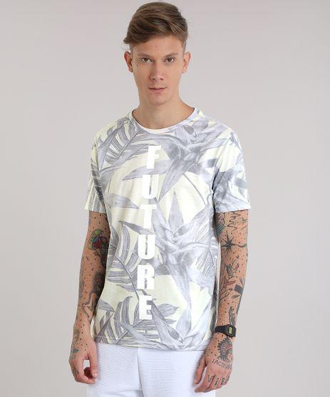 Camiseta-Estampada-de-Folhagem--Future--Amarelo-Claro-8834167-Amarelo_Claro_1