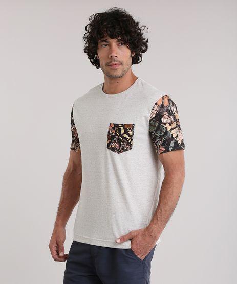 Camiseta-BlueMan-com-Bolso-Estampado-de-Borboletas-Bege-Claro-8854646-Bege_Claro_1