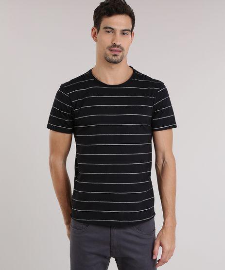 Camiseta-Listrada-com-Brilho-Preta-8776078-Preto_1