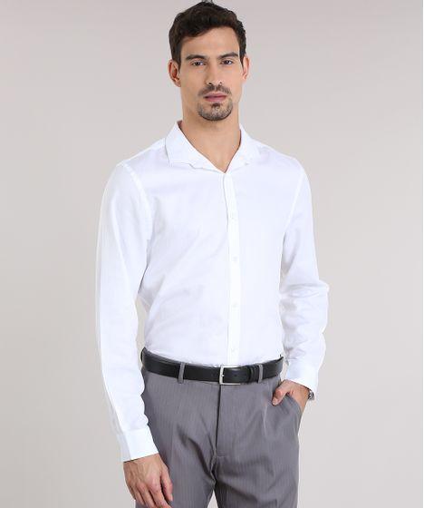 af4ba80afb Camisa-Comfort-Texturizada-Branca-8637682-Branco 1 ...