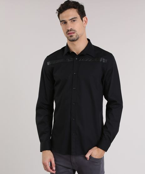 Camisa-Slim-com-Recorte-Preta-8639713-Preto_1