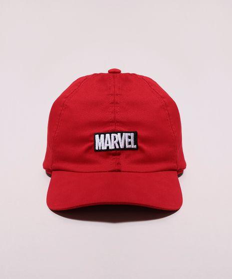 Bone-Masculino-Aba-Curva-Marvel-com-Bordado-Vermelho-9966354-Vermelho_1