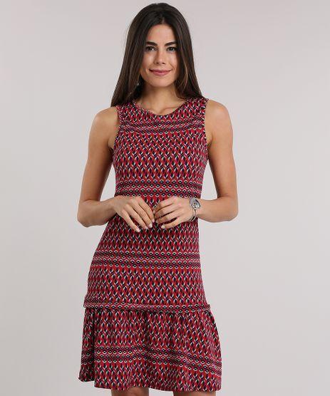 Vestido-Estampado-Etnico-com-Babado-Vermelho-8829173-Vermelho_1