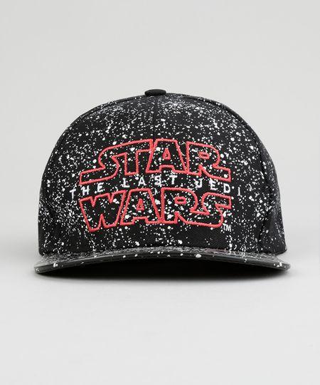 Boné Star Wars Estampado Preto - ceacollections 96e3b30cdd3