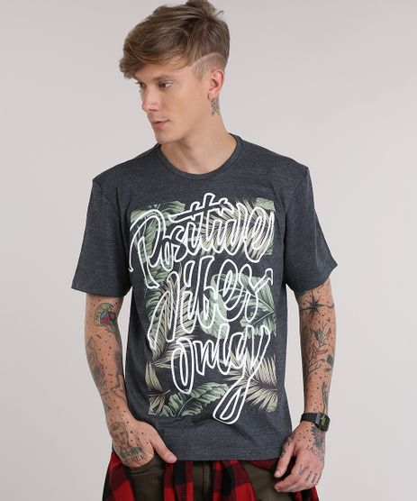 Camiseta--Positive-Vibes--Cinza-Mescla-Escuro-8819729-Cinza_Mescla_Escuro_1