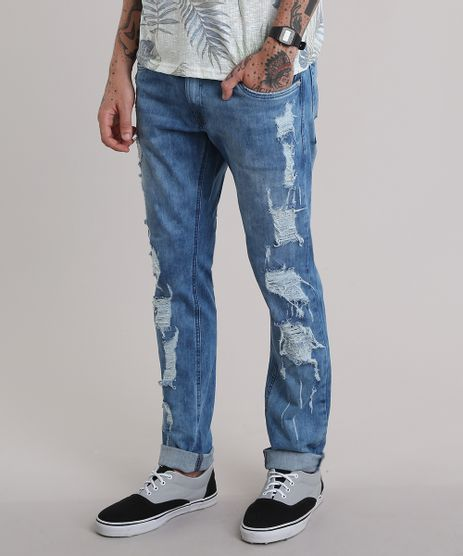 Calca-Jeans-Slim-Destroyed-Azul-Medio-8795276-Azul_Medio_1