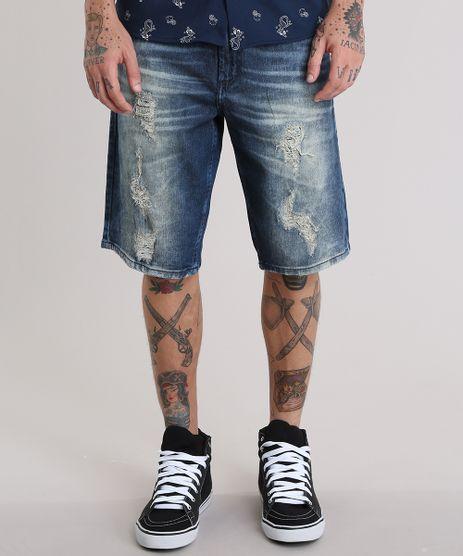 Bermuda-Jeans-Reta-Destroyed-Azul-Escuro-8766957-Azul_Escuro_1