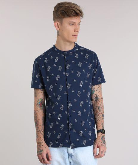 Camisa-Estampada-de-Sereias-em-Piquet-Azul-Marinho-8752764-Azul_Marinho_1