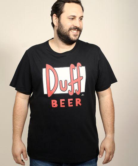 Camiseta-Masculina-Plus-Size-Duff-Beer-Os-Simpsons-Manga-Curta-Gola-Careca-Preta-9951577-Preto_1