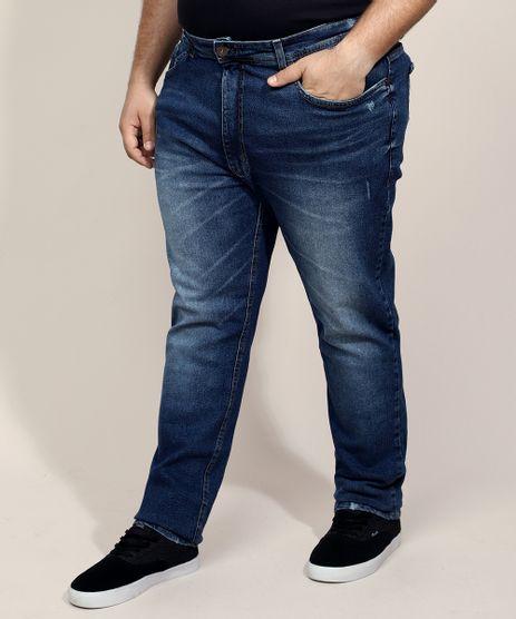 Calca-Jeans-Masculina-Plus-Size-Slim-Azul-Escuro-9965333-Azul_Escuro_1