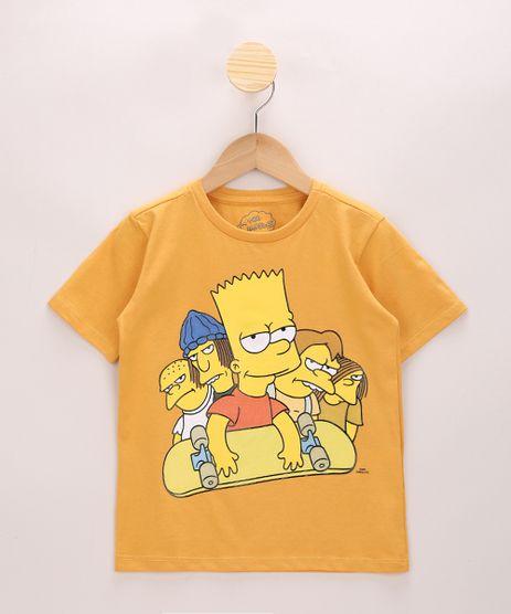 Camiseta-Infantil-Bart-Simpson-e-Amigos-Manga-Curta-Amarela-9970617-Amarelo_1