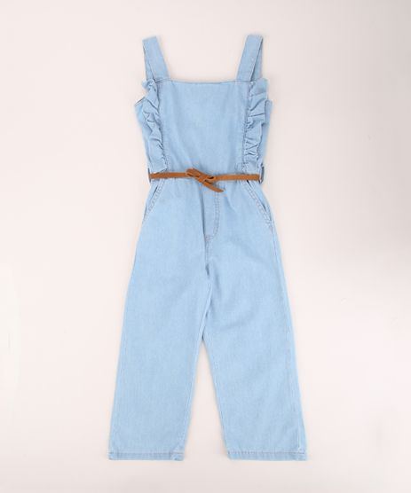 Macacao-Jeans-Infantil-Pantacourt-com-Babado-e-Cinto-Alca-Media-Azul-Claro-9958023-Azul_Claro_1