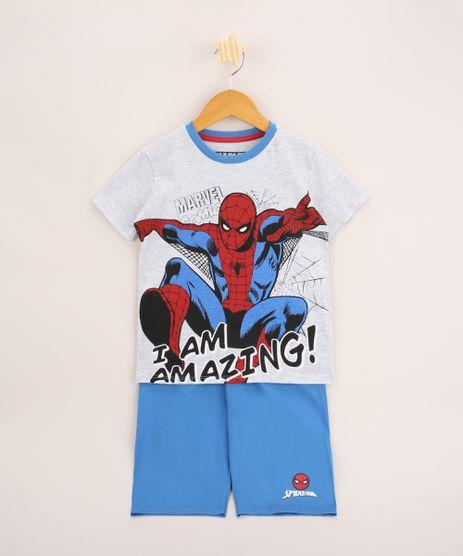 Pijama-Infantil-Homem-Aranha-Manga-Curta-Cinza-Mescla-9963713-Cinza_Mescla_1
