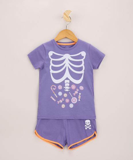 Pijama-Infantil-Halloween-Manga-Curta-Roxo-9969730-Roxo_1