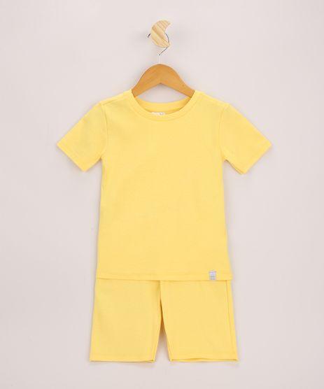 Pijama-Infantil-Canelado-Manga-Curta-Amarelo-9963229-Amarelo_1