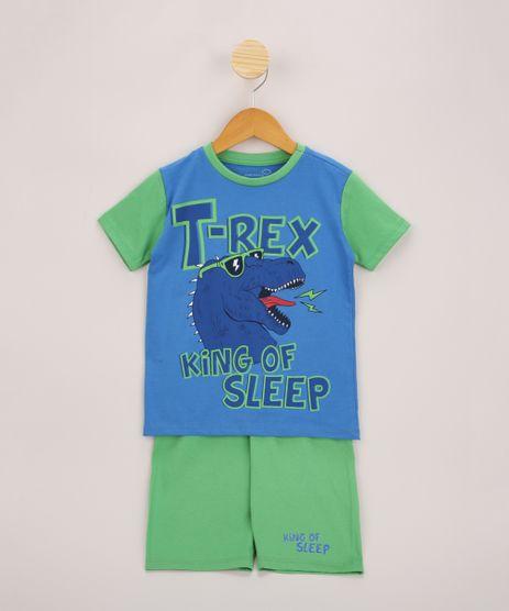 Pijama-Infantil-Dinossauro-T-Rex-Manga-Curta-Azul-9963718-Azul_1