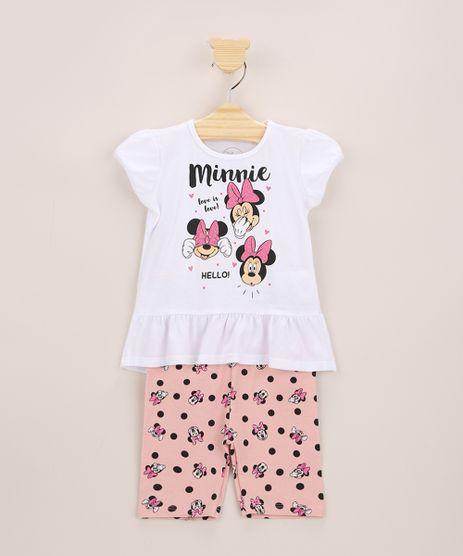 Conjunto-Infantil-Minnie-de-Blusa-com-Glitter-e-Babado-Manga-Curta-Off-White---Bermuda-Estampada-de-Poa-Rose-9963647-Rose_1