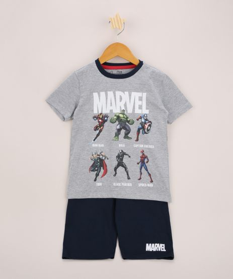 Pijama-Infantil-Os-Vingadores-Manga-Curta-Cinza-Mescla-9963715-Cinza_Mescla_1