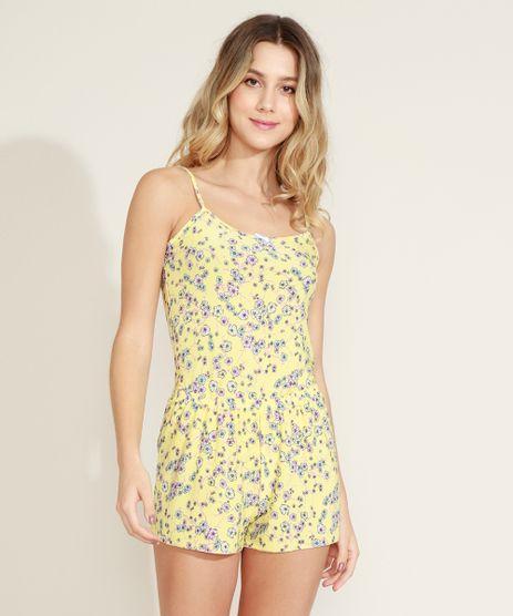 Short-Doll-Feminino-Estampado-Floral-Amarelo-9958856-Amarelo_1